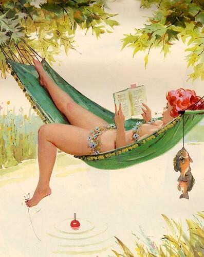 Хильда - веселая пин-ап девушка с полненькой фигурой