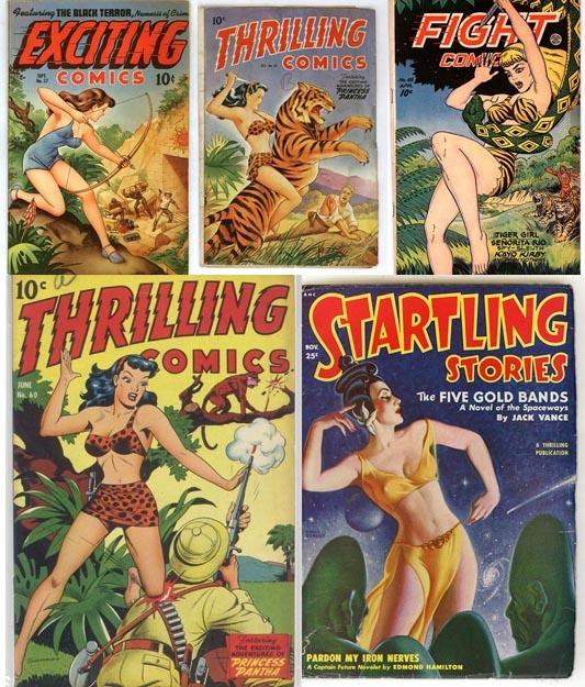 ретро-комиксы - сексуальные обложки
