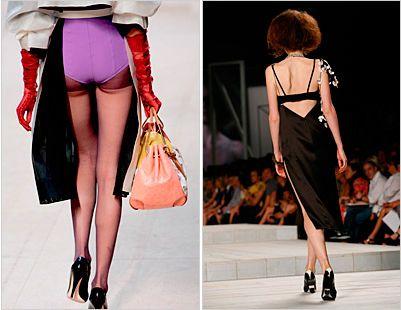 Новый модный тренд - выставлять белье напоказ