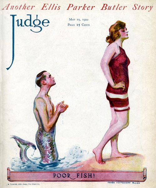 Ретро-купальник - иллюстрация с обложки старого журнала за 1920 год