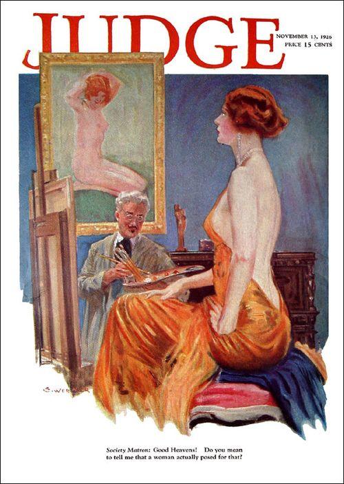 Откровенное платье, обложка журнала за 1926 год