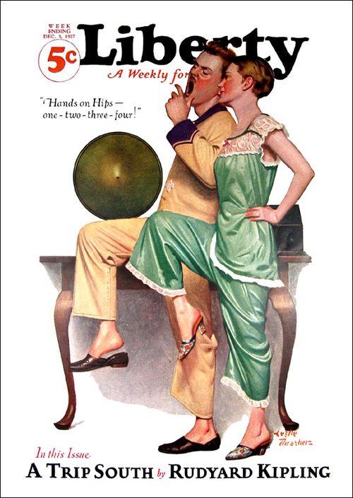 Женская пижамка с обложки старого американского журнала