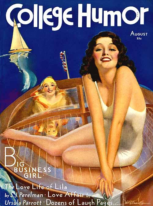 Девушка в купальнике с ретро-обложки американского журнала за 1930 год