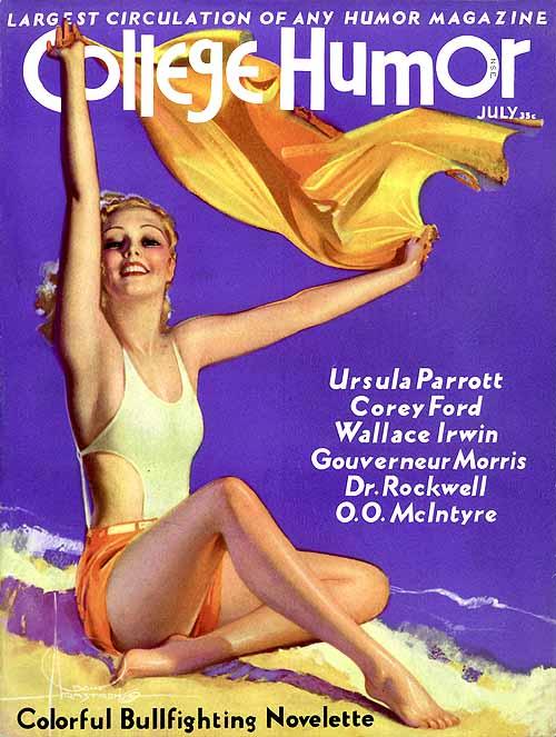 Девушка в купальнике с обложки старого американского журнала