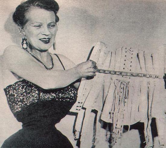 Этель Грангер (Ethel Granger) - женщина с самой тонкой в мире талией