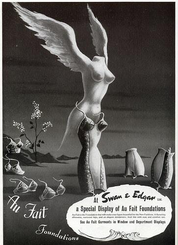 Ретро-реклама женского белья из 50-х годов