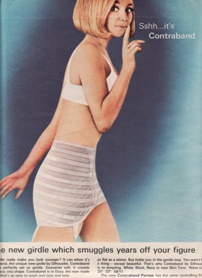 Дефицитная контрабанда - ретро реклама женского белья