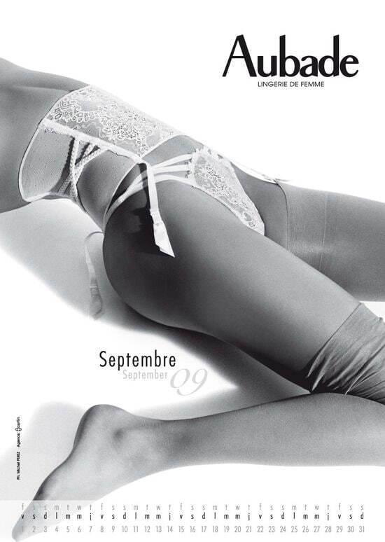 Белье по календарю - новый календарь от Aubade на 2009 год