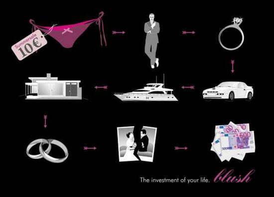 Путь от трусиков к богатству - оригинальная реклама женского белья