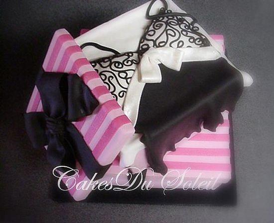 Съедобное белье - торты в виже женского белья и корсетов