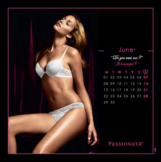 Календарь на июнь 2009 от Passionata
