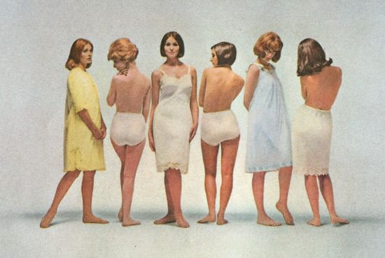 Ретро-трусики - реклама женского белья из 1960-х годов
