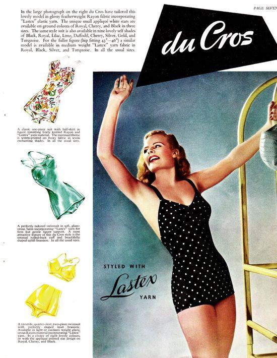 Ретро-мода - купальники 1950