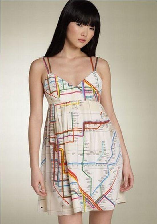 Платье - карта метро