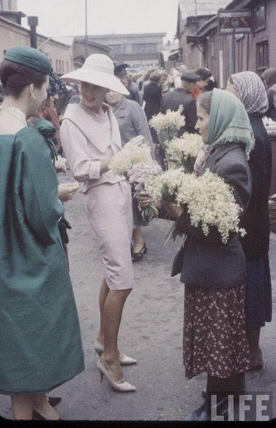 Модели Диор в Москве 1959 год