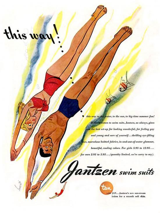 Ретро-мода: купальники Jantzen,1950-е